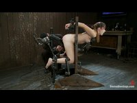 Horny blonde having double penetration with her toys
